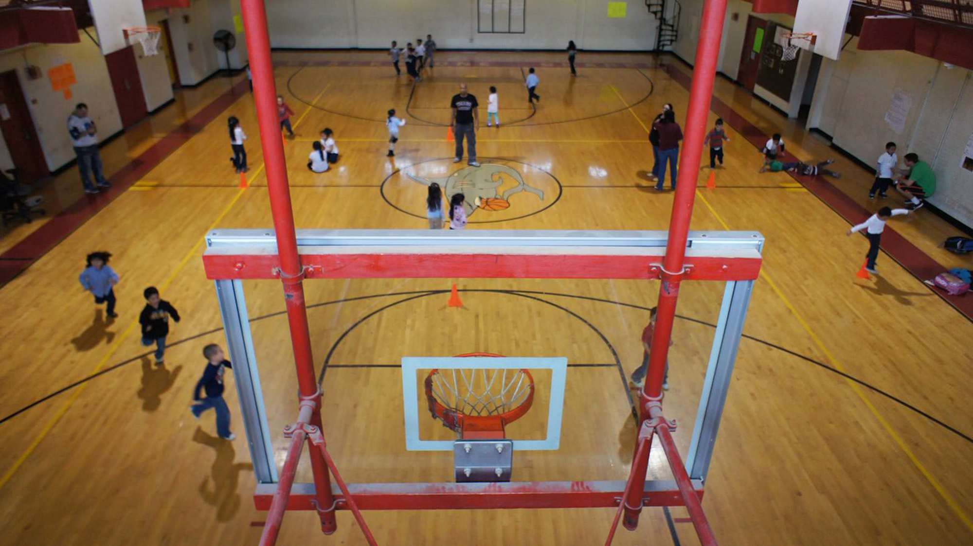 The Blackstone Community Center Gym from the upper level
